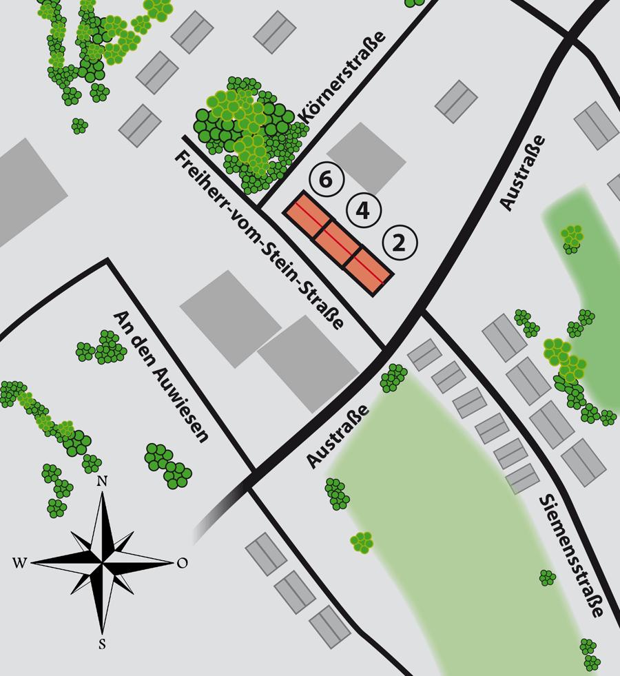Lageplan Freiherr-vom-Stein-Straße