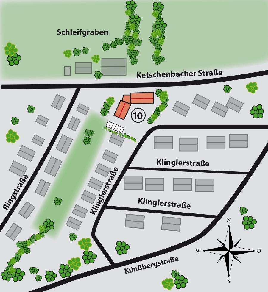 Lageplan GWG-Wohnanlage-Klinglerstraße