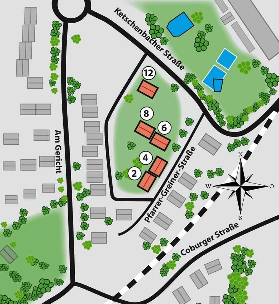 Lageplan Pfarrer Greiner Straße